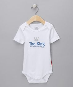Love this Silly Souls White 'The King' Bodysuit - Infant by Silly Souls on #zulily! #zulilyfinds