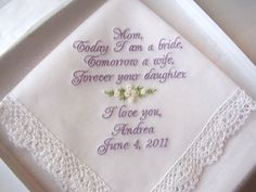 Mother of the Bride Personalized Wedding by mollyandmom on Etsy, $21.00