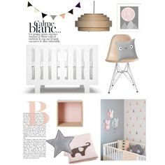 Scandinavian inspired nursery mixed with monochrome and pastels
