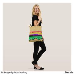 Shop Bit Burger Tote Bag created by ProudNothing. Animation, Tote Bag, Projects, Bags, Design, Log Projects, Handbags, Blue Prints