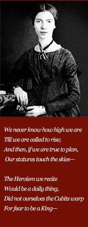 Happy birthday, Emily Dickinson