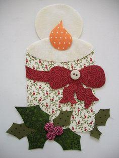 Christmas Border, Christmas Applique, Christmas Sewing, Christmas Embroidery, Primitive Christmas, Christmas Projects, Christmas Crafts, Christmas Ornaments, Felt Christmas Decorations