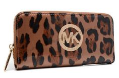 Michael Kors leopad Leather Wallet