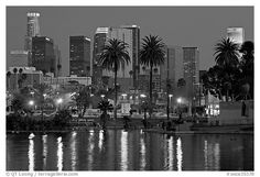 Los Angeles Skyline Black And White