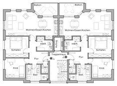 Mehrfamilienhaus grundriss beispiele | House appartements in 2018 ...