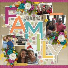 Kit and Template This is Family by Heartstrings Scrap Art. Scrapbooking Ideas, Digital Scrapbooking, Heartstrings, Live Laugh Love, Templates, Kit, Creative, Photos, Stencils