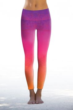 Pink Ombre Yoga Pants from Nóli Yoga repin & like. Check out Noelito Flow…