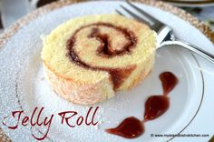 Yummy sponge cake jelly roll with a filling of your favorite red jelly or jam Jelly Roll Cake, Jelly Rolls, Jam Roll, Cake Recipes, Dessert Recipes, Impressive Desserts, Basic Cake, Baking Supplies, Desert Recipes