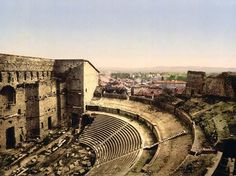 Roman Theater - Provence, France, by Detroit Photographic Company Roman Theatre, Classic Photography, Beaux Villages, Chapelle, Ancient Rome, Adventure Is Out There, Roman Empire, Art Reproductions, Old Pictures