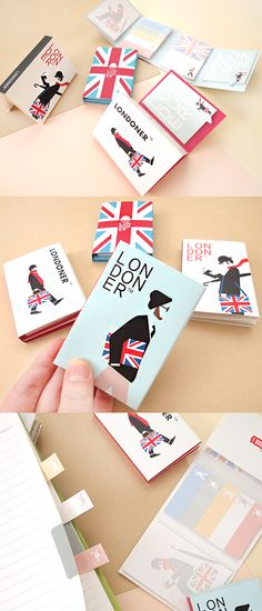 Be a Londoner in your own way with this very special sticky notebook~