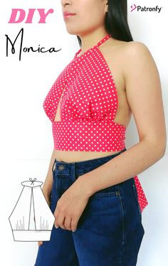 Lining Fabric, Woven Fabric, Crop Top Halter, Pdf Sewing Patterns, Crop Tops, Tank Tops, Camisole Top, Diy Tutorial, A4