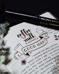 Because coffee is my morning dessert ☕️ Midori insert 002 ✒️Zig Mangaka in Fine  #brushlettering #brushpen #brushpens #calligraphy #calligraphyph #calligritype #curiouscalligrapher #flatlays #flourishforum #freehand #habitandhome #handlettering #handmade #inkspiration #moderncalligraphy #onthetable #pens #thedailytype #thehandletteredproject #type #typekita #typespire #typography #typographymanila