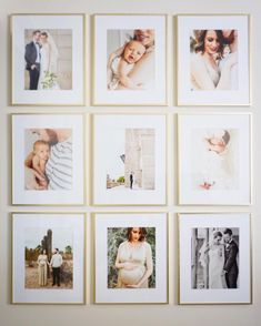 Here are 16 awesome ideas for diy Christmas decorations. Wedding Picture Walls, Wedding Wall, Wedding Photo Frames, Family Photo Frames, Family Pictures On Wall, Photo Wall Decor, Décor Boho, Photo Displays, Frames On Wall