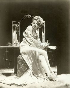 Ann Sheridan in glamorous negligee/peignoir ~ 1940s