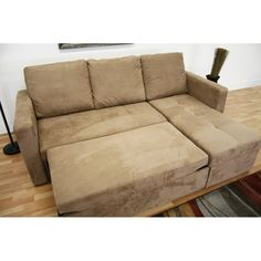 pull out loveseat sofas 80993baxton studio linden tan microfiber convertible sectional sofa packed with features