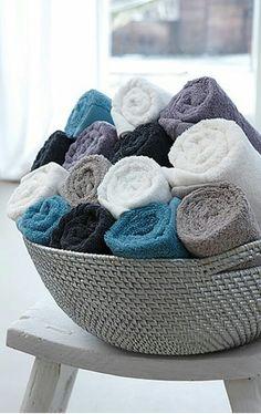 Leuk, maar dan met een en dezelfde kleur handdoek