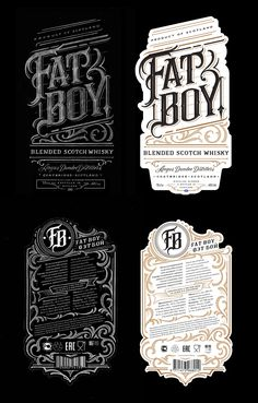 Fat Boy Whisky Label