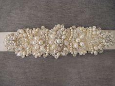 Wanted: Lazaro Bridal Sash/Belt or Similar :  wedding beaded belt bridal belt bridal sash crystal dress ivory lazaro rhinestone sash Lazaro Bridal Belt