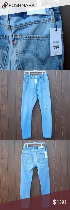 Levi's Redone vintage women's denim jeans Levi's Redone vintage women's denim jeans. Brand new with tags still attached. Size 29 in women's. levi's Redone Jeans Straight Leg