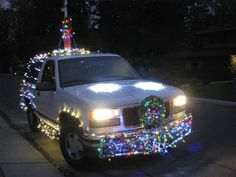 crazy christmas car lights by our prior wedding clients dan and hiroko