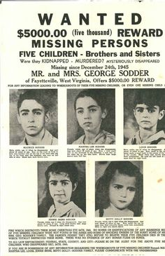 A fascinating story about 5 West Virginia children who mysteriously vanished on Christmas Eve, 1945. This is truly crazy! Worth the read