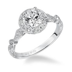 ArtCarved Crystal #diamond engagement ring Available at Ulman's Jewelry Fredericksburg, VA www.ulmansjewelry.com