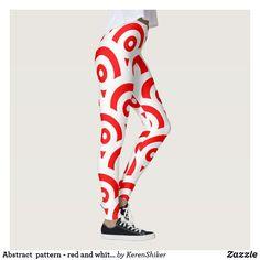 Abstract pattern - red and white. White Leggings, Women's Leggings, Christmas Leggings, Tis The Season, Workout Leggings, Abstract Pattern, Red And White, Seasons, Holiday