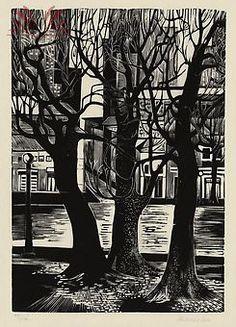 Renina Katz Pedreira, 'Árvores', xilogravura sobre papel, 33 x 25cm. 1945