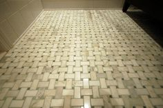Basketweave tile floor