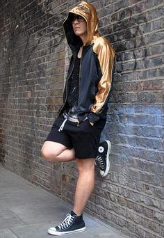 "Vintage+Japanese+""Champion""+Slim-Fit+Hooded+Track+Jacket"