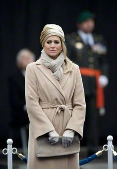 Dutch Queen Maxima attends the ceremony in which Dutch Major Gijs Tuinman (not pictured) receives the Militaire Willemsorde (Military Order of William) honor award from the Dutch King at the Binnenhof in The Hague, The Netherlands, 04.12.2014.