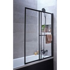 Pare-baignoire 2 volets pivotant coulissant 140 x verre transparent Lift – Herzlich willkommen Glass Lift, Bath Screens, Walk In Shower, Bathroom Styling, Small Bathroom, Bathroom Ideas, Bathroom Medicine Cabinet, Ladder Decor, Home Furniture