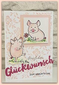 Stempel, Farben & Spaß: Und noch mehr Glücksschweine....
