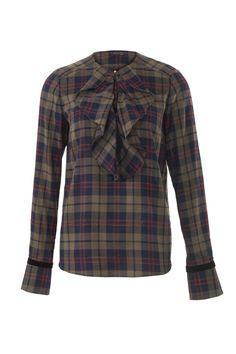 Блузка с расклешенными манжетами