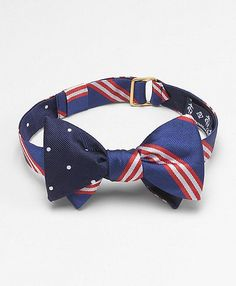 Brooks Brothers Fraternity Inspired Reversible Bow Tie