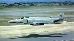 RAF F4 Phantom. Almost scratching the gun pod - The Brits own low level flying they really impressed me during my service.