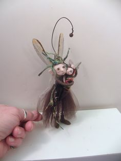 ooak poseable Mom and baby PIXIE FAIRY  02  art by DinkyDarlings