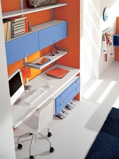 Boys bedroom, computer and study desk furniture design ideas by doimo city line