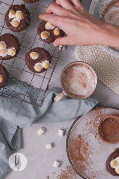 What do you get when you bite into a double chocolate s'mores cookie? A gooey melted chocolate and marshmallow centre! Chocolate Lava, Melted Chocolate, Lava Cookies, Makeup Art, Marshmallow, Camembert Cheese, Centre, Sweet, Fun