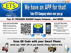 """Take ETS Company with you where ever you go, with our """"FREE"""" ETS Company App! ETS Company ... We have an APP for that!  Read more about our New ETS Company APP http://etscompany.com/wordpress/2013/03/28/ets-company-we-have-an-app-for-that/"""