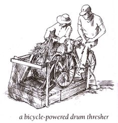 pedal powered grain cleaning About a min in is how he made