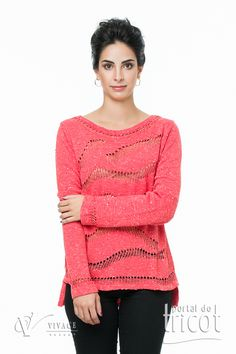 Portal do Tricot Pullover, Sweaters, Fashion, Elegant Woman, Charms, Tricot, Moda, Fashion Styles, Sweater