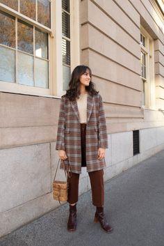 Plaid coat - Winter Outfits for Work Stylish Winter Outfits, Fall Outfits, Casual Outfits, Cute Outfits, Dress Outfits, Look Fashion, Fashion Outfits, Womens Fashion, Plaid Fashion