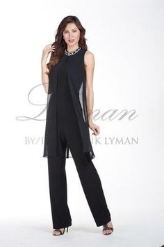 1a677bd8435 Elegant one piece jumpsuit with flattering sheer overlay. Proudly Made in  Canada High Fashion Dresses