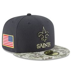 New Orleans Saints New Era Salute To Service Sideline Official 59FIFTY Fitted Hat - Graphite - $36.99