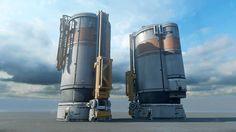 ArtStation - Fuel Silo for Halo 5 : Guardians, Mark Nicolino