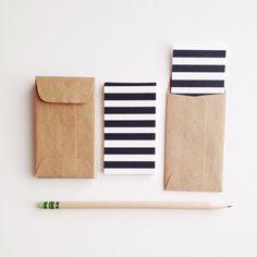 I Love Stripes Mini Flat Cards  Minilopes