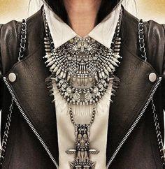 Oversized crystal necklace