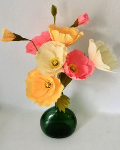 Iceland Poppy--Crepe paper flowers--Paper poppies