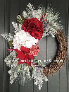 Winter Hydrangea Wreath